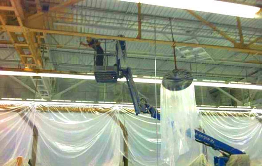 Boom Lift Ceiling Painting