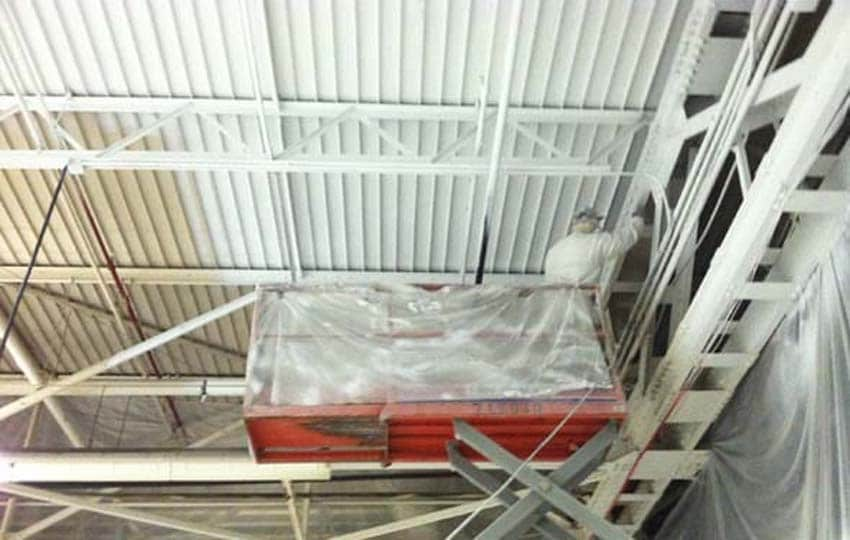 Scissor Lift Ceiling Painting