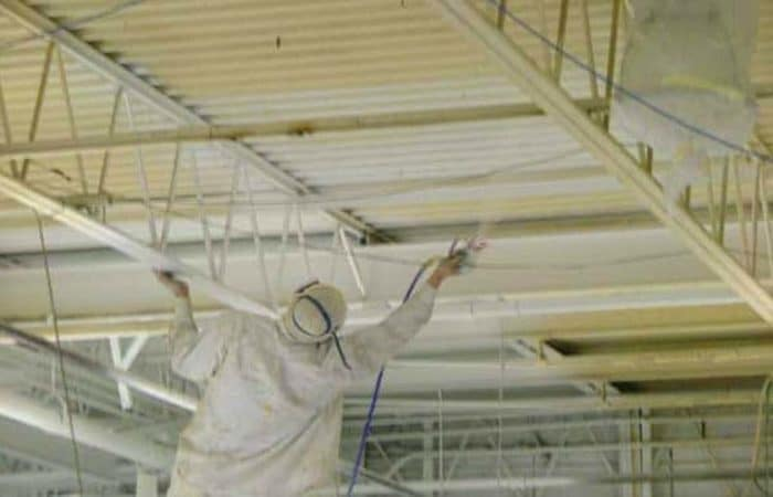 Spray Painting Ceilings